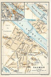 49 Saumur 1913 Pt. Plan Ville + Guide (4 P.) Château 7-voies St-hilaire Nantilly 7sv2uwzy-07233229-941656128