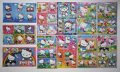 Hello Kitty Glitter Sticker Sheet 4x6'' (10x15cm)