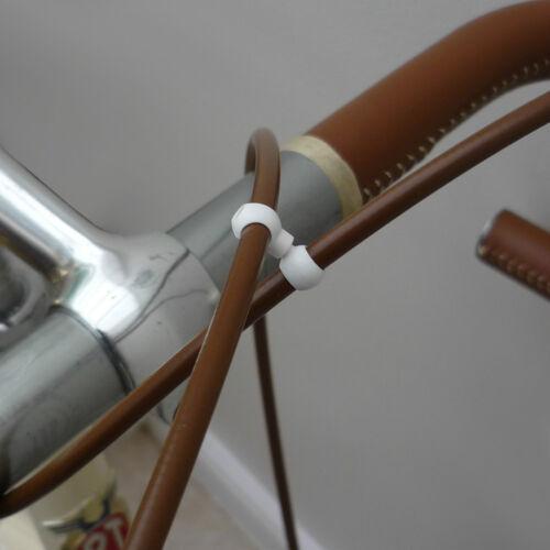 noir ou blanc tidy avec swivel joint Vintage rétro câble de freins clip