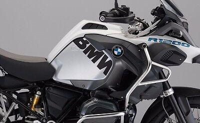 BMW R1200GS LC White BMW Side tank stickers Black Matte