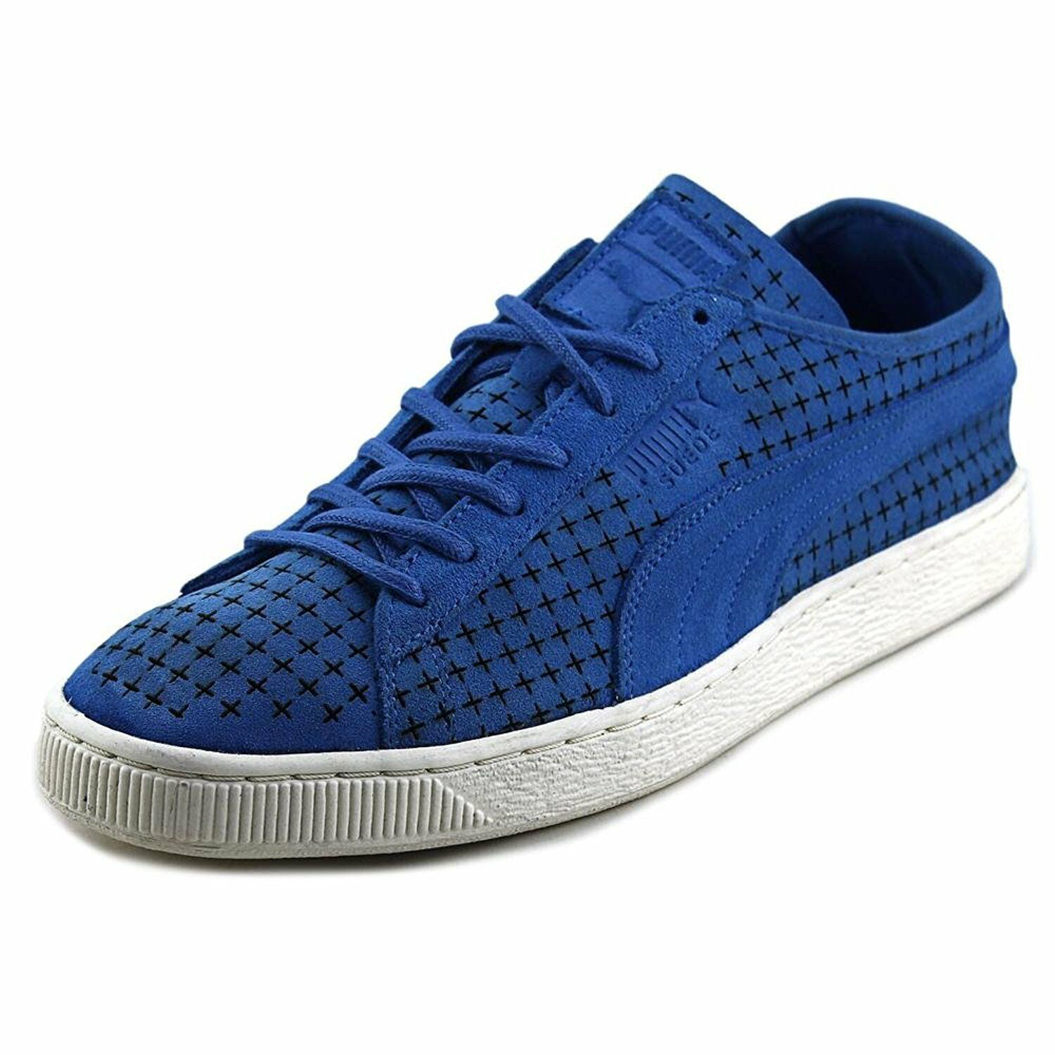 Puma Courtside Perf Men US 10.5 Blue Sneakers