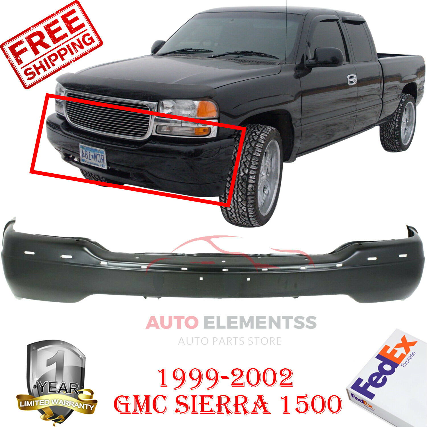 front bumper for 99 2002 gmc sierra 1500 2000 2006 yukon chrome steel ushirika coop tanzania federation of cooperatives