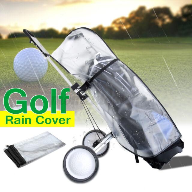 Golf Cart Trolley Bag Rain  Waterproof Universal PVC Cape Zip Dust