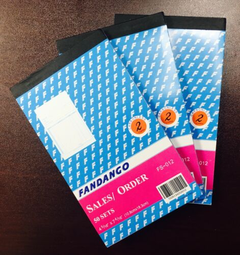 3 Pack 2 part Carbonless Sales Order Books Receipt Form Invoice 50 Set 4.5x7.5
