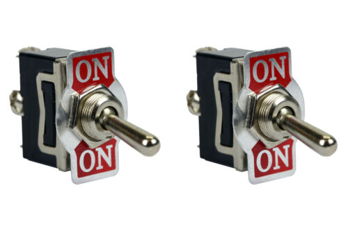 2 pc TEMCo Heavy Duty 20A 125V ON-ON SPDT 3 Terminal Toggle Switch