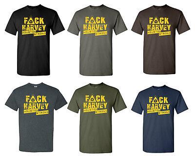 F$$K Harvey Houston Strong Hurricane Men/'sTee Shirts 1672 Red Cross Funding
