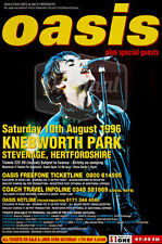 "Original litho-printed Oasis tour poster - Knebworth 60"" x 40"""