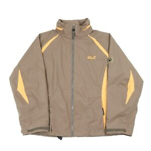 Details about JACK WOLFSKIN Hooded Waterproof Jacket | Coat Shell Wind Rain Zip Hiking