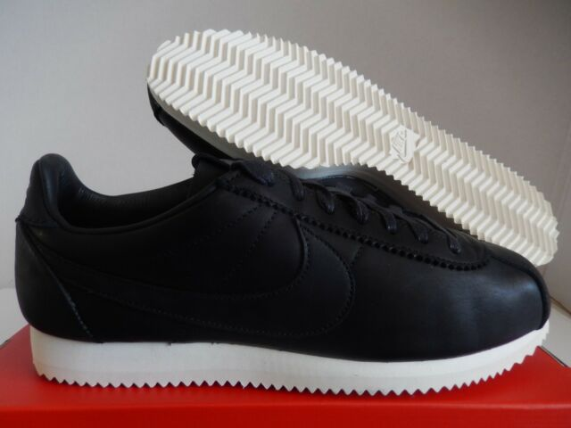 pas mal 4dbcd 2fa21 Men's Nike Classic Cortez Premium QS TZ Leather Shoes Black 898088-001 Size  11
