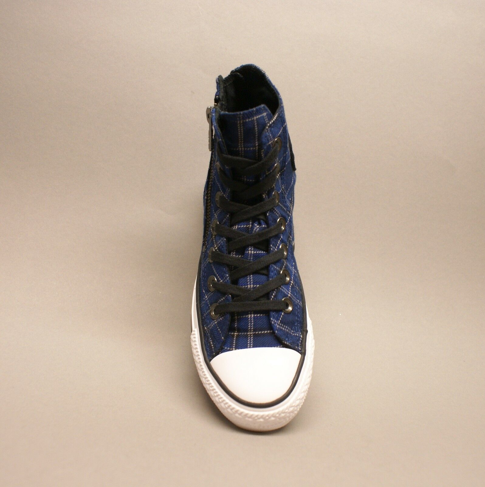 Converse All Star Chuck Plaid Hi Dual Zip Plaid Chuck Navy 549573C Sneakers blau kariert 443005