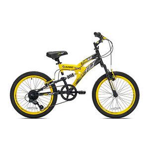 Kent-Bikes-Avigo-Air-Flex-Dual-Suspension-Steel-20-Inch-Boys-BMX-Bike-Yellow