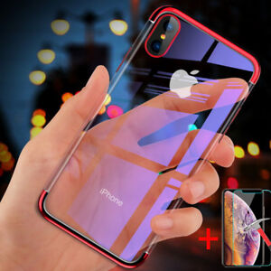 separation shoes 5c27f 65fc3 Details about For Apple iPhone XS Max / XR X Crystal Clear Plating Soft TPU  Case Slim Cover