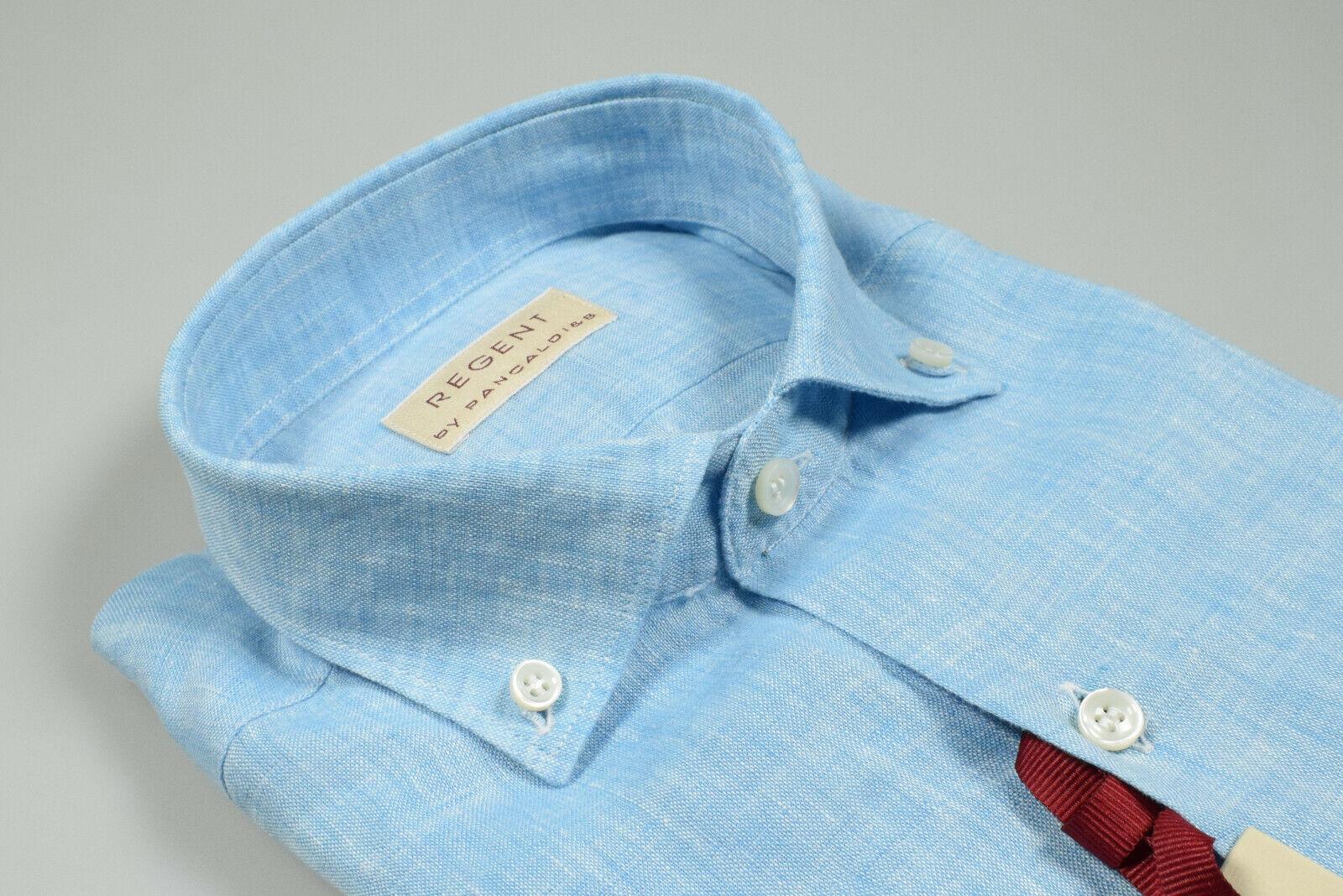 differently b04e3 66ca7 garantito Camicia Camicia Camicia Azzurra Collo Button Down ...