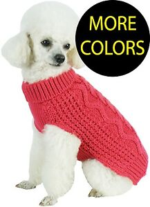 Swivel-Swirl-Heavy-Cable-Knitted-Fashion-Designer-Pet-Dog-Sweater-Clothes