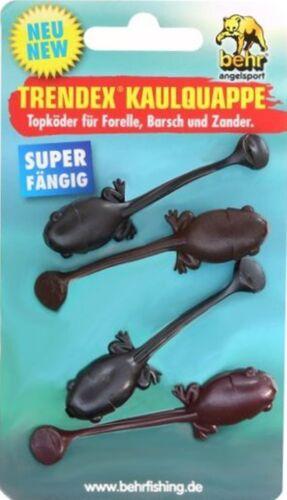 Trendex Kaulquappe 4 Stück 6,5cm  Forellen Zander Barsch Sbirolino