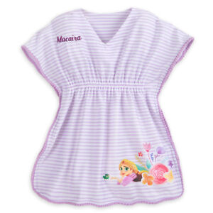 80f1be7745 NWT Disney Store Princess Rapunzel Swimsuit Cover Up Girl Size 7 8 ...