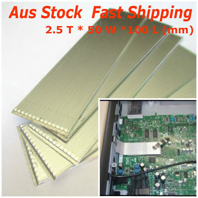 2019 Fashion 1pc Large Flat Heat Pipe Sink 2.5*50*100 Aluminum Thermal Cooling Led Cpu Ic Pleasant To The Palate Cpu Fans & Heat Sinks