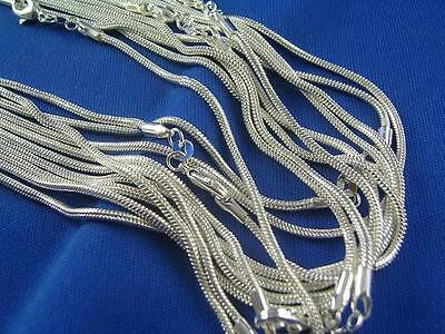 """Hot Wholesale Lots 5pcs 925Sterling Silver 1.2mm Snake Chain Necklace 16""""-30"""""""