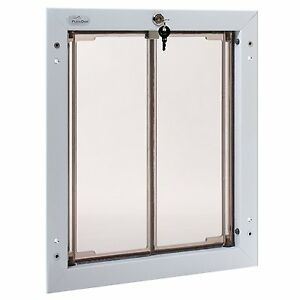 Image is loading Plexidor-Premium-DOOR-Mounted-White-Pet-Doors-in-  sc 1 st  eBay & Plexidor Premium DOOR Mounted White Pet Doors in 4 Sizes | eBay pezcame.com