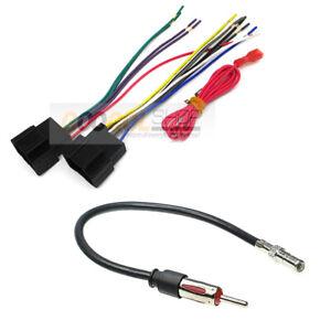 Car Stereo Radio wire harness +antenna for 2006-2016 Buick Chevrolet GMC Pontiac