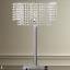 Chandelier style shade Table Lamp Elegant Home decor Modern Lightning silver