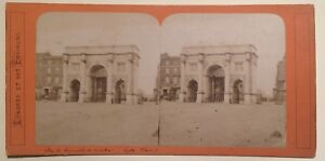 Londra Marble Arch Hyde Park London UK Foto Stereo Vintage Albumina
