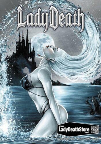 "Ed.99 Lady Death  /""AZURE/""    Metallicard  Mike Krome  Ltd"