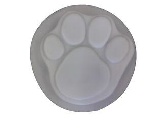 7 In (environ 17.78 Cm) Dog Cat Paw Béton Footprint Stepping Stone Moule 1018 Moldcreations-afficher Le Titre D'origine