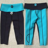 Roxy Tradewinds Neoprene Capri Wetsuit Reversible Womens Tights Turquoise Black