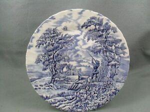 Churchill-The-Hunter-Blue-dinner-plate