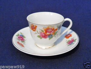 Details about DEMITASSE SMALL CUP SAUCER CERAMIC MARKED JYOTO CHINA MADE IN  OCCUPIED JAPAN