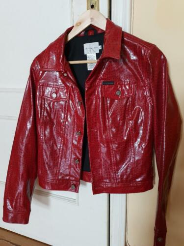 Calvin Klein snakeskin print  jacket
