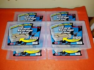 Jammers-Six-6-Plastic-Card-Storage-Trading-Card-Case-Box-holds-1100-Plano-Mfg
