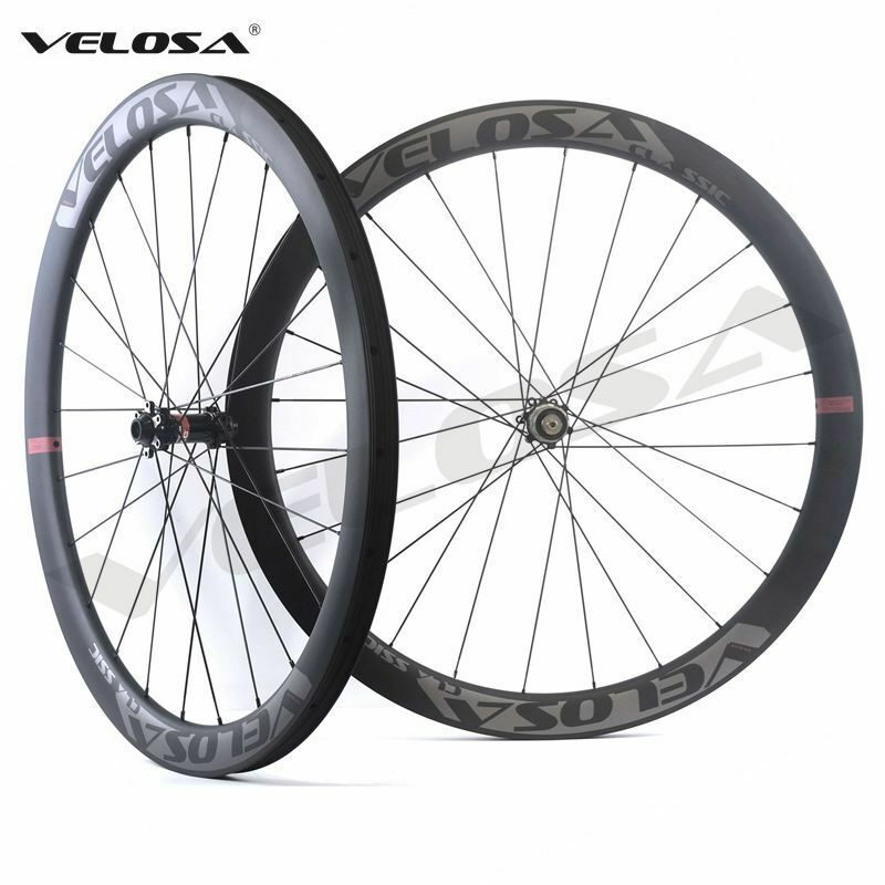 Velosa CX45 road disc brake cyclocross Gravel bike carbon wheel,45mm tubeless OK