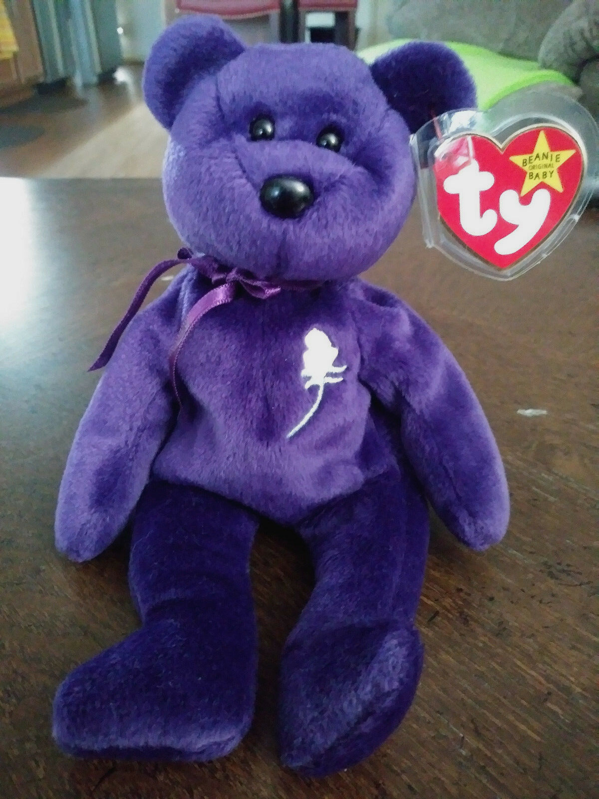 Ty Beanie Baby   PRINCESS The (Diana) Bear From 1997  RARE & RETIRED - Used