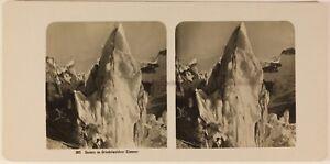 Suisse Grindelwald Seracchi c1905 Foto Stereo Vintage Analogica