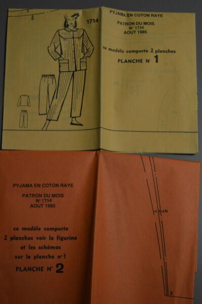 ' MODES & TRAVAUX ' PATRON AOUT 1985 + PATRON POUPEE J.MICHEL MARIE FRANCOIS A10