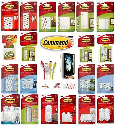 3m Command Strisce Large, Media, Small Per I Danni Libera Foto/poster Appesi-