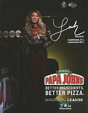 LEAH PRITCHETT 2017 ☜ Papa John's Pizza NHRA Drag Racing Top Fuel HANDOUT