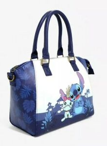 NWT-Loungefly-Disney-Lilo-amp-Stitch-Scrump-Blue-Satchel-Bag-Handbag-Purse