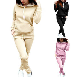 Gute Preise toller Rabatt für klassische Stile 2tlg Damen Trainingsanzug Hoodie Pullover Kapuze Tops + Hose ...