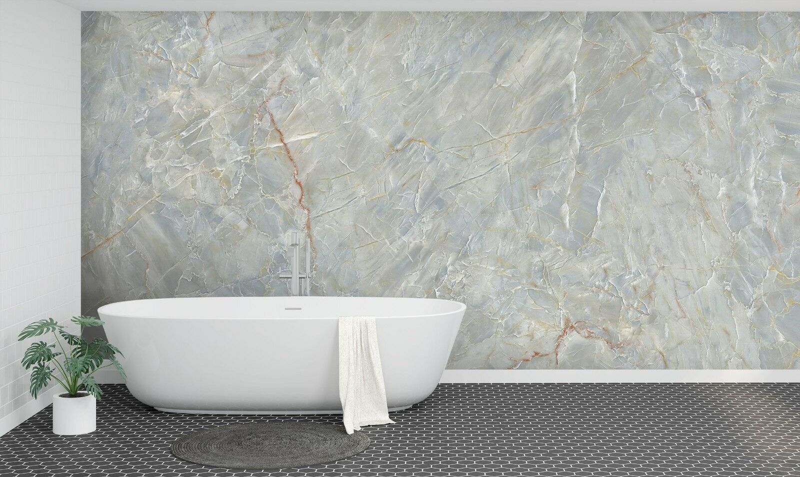 3D Simple Grey Marble 3 Texture Tiles Marble Wall Paper Decal Wallpaper Mural AJ