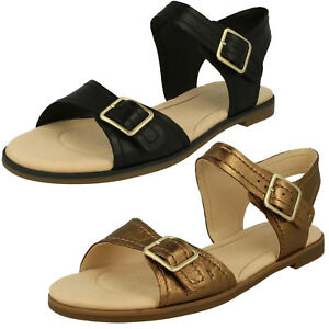 ac6971bdbc56 Image is loading Ladies-Clarks-Bay-Primrose-Leather-Buckle-Strap-Sandals-