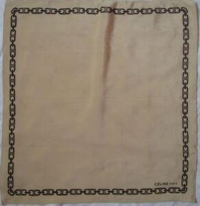 Superbe foulard tour de cou CELINE Paris soie TBEG vintage scarf 46 ... 5756596dce9