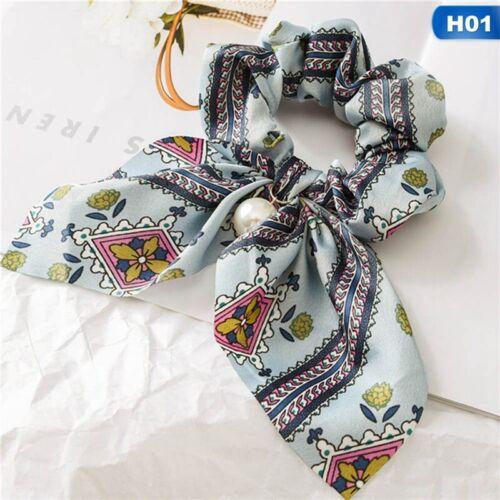 Mädchen feste Blumenbogen Scrunchie Haarband elastische Haargummis Seil