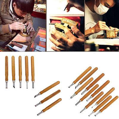Wood Handle Mini Carving Chisels Tool Kit Carpenters DIY Handy Tools Set