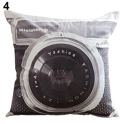 Vogue Attractive Retro Camera Home Decor Cushion Cover Throw Pillow Case