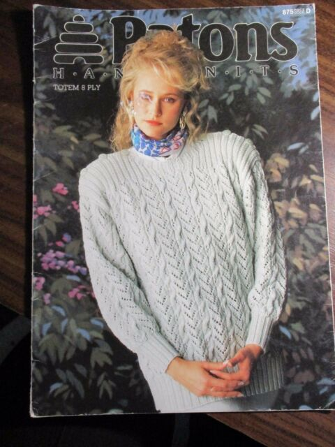 Patons Ladies Knitting Pattern Leaflet No 875 Totem 8ply Sizes