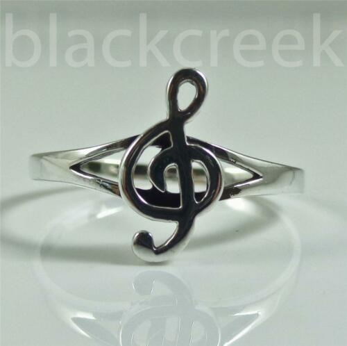 .925 Silver ~Lady/'s Music Note ~ Clef ~ Ring~ Size 2~3~4~4.25~5~5.25~6~6.5~7~8~9