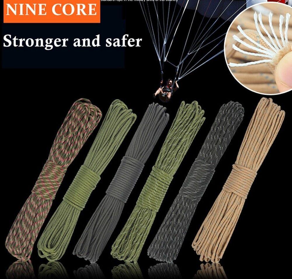 Paracord 550 9 Core Inner Brins Corde Survie Randonnée Randonnée Randonnée Camping Bracelet Survie b5c5b6